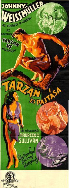 """A """"Tarzan és asszonya"""" címmel is bemutatott film 1934-ben készült. Ez a második, amiben az erdélyi származású Johnny Weismüller játsza a címszerepet. http://hdl.handle.net/2437/119940"""