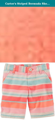 Carter's Striped Bermuda Shorts (Toddler/Kid) - Pink/Orange-3T. Carter's Striped Bermuda Shorts (Toddler/Kid) - Pink/Orange Carter's is the leading brand of children's clothing, gifts and accessories in America, selling more than 10 products for every child born in the U.S. Their designs are based on a heritage of quality and innovation that has earned them the trust of generations of families.