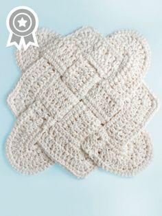 Sailor's Knot Dishcloth | Yarn | Free Knitting Patterns | Crochet Patterns | Yarnspirations