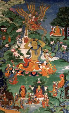 Scene of Life of Buddha thangka painting More info @ traditionalartofnepal.com