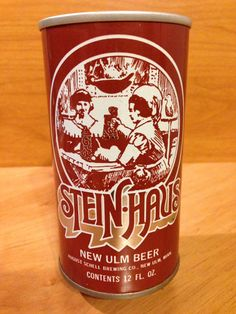 Steinhaus New Ulm Beer August Schell Brewing Co. New Ulm, MN unlisted New Ulm, Beer Can Collection, Old Beer Cans, Beers Of The World, Beer Brands, Beer Labels, Brewing Co, Food Plating, Craft Beer