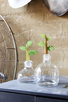 Glass artist Amanda Dziedzic glass vegetable stoppers via thedesignfiles.net