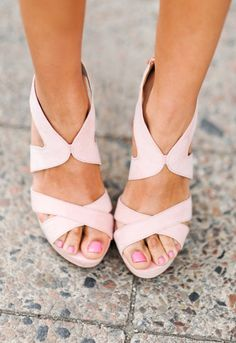 Wedding shoes, blush wedding, blush shoes, Pretty in Pink heels, Bridal shoes Ankle Boots, Shoe Boots, Shoes Heels, Pretty Shoes, Beautiful Shoes, Fashion Mode, Fashion Shoes, Stilettos, Crazy Shoes