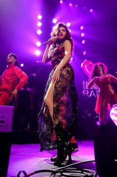 Selena Gomez performing at Jingle Ball