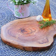 natural olive wood serving board