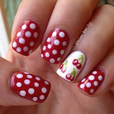 Fashion And Beauty Tips: Cute Polka Dot Nail Art Designs Dot Nail Art, Polka Dot Nails, Nail Art Diy, Diy Nails, Polka Dots, Gel Manicure, Diy Art, Fancy Nails, Love Nails