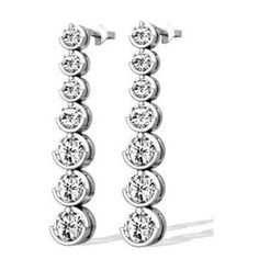 Diamant Ohrringe aus 585er Weißgold mit 2.00 Karat Diamanten - http://www.juwelierhausabt.de/products/de/Diamant-Ohrringe/Diamant-Ohrringe/Diamant-Ohrringe-aus-585er-Weissgold-mit-200-Karat-Diamanten1.html