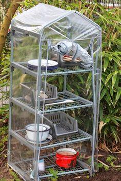 Mud kitchen utensils storage area ≈≈ http://www.pinterest.com/kinderooacademy/mup-pie-play-kitchens/