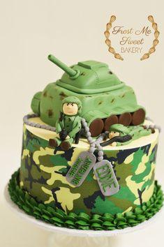 Army Tank Cake, Army Cake, Military Cake, Army Birthday Cakes, Army's Birthday, Army Wedding Cakes, Army Cupcakes, Cars Cake Design, Camouflage Cake