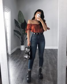 Totally Wearable 😍 Chic outfits ideas for Fall Fashion 2019 Totally Wearable 😍 Schicke Outfit-Ideen für die Herbstmode Trend Fashion, Look Fashion, Autumn Fashion, Fashion Outfits, Fashion Ideas, Fashion Black, Fashion Boots, Womens Fashion, Neue Outfits