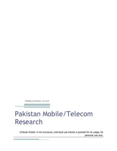 Pakistan Mobile or Telecom Report_Complete_Page_1