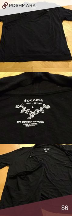 Sonoma shirt Sonoma shirt. Size large. Black shirt is kind of like a jacket folds over. . Excellent condition. Smoke free home. Sonoma Tops Blouses