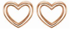 14kt Rose Heart Earrings
