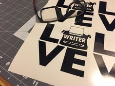 Writer LOVE is a 5x5 inch, 5-year Decal, celebrating writers.     Whether you're a writer, a fan of an author or have a special writer in mind that you're cheering on, this is a perfect decal for you.     Writer LOVE is:   Printed on 5-year vinyl.  Colors: White or Black  Size: 5x5 inch     Perfect for vehicles, laptops, tablets, as wall decor, classrooms and dorm rooms.     Also a great gift for National Novel Writer's Month.     Remember that I also do custom jobs so if you need this in a…