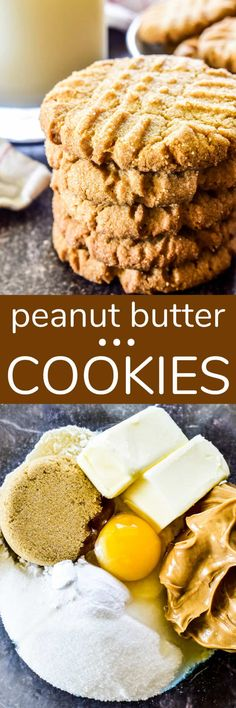 Peanut Butter Cookies are a childhood favorite, and these ones are the BEST! Light, crispy, and packed with peanut butter flavor... if you're looking for a go-to recipe that everyone will love, this is it!! Easy Peanut Butter Cookies, Peanut Butter Recipes, Best Cookie Recipes, Sugar Cookies Recipe, Sweet Recipes, Yummy Recipes, Easy Desserts, Delicious Desserts, Keto Desserts
