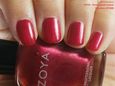 Zoya Professional Lacquer in Valentina (swatch by fivezero.ca) [red, throwbackthursday]