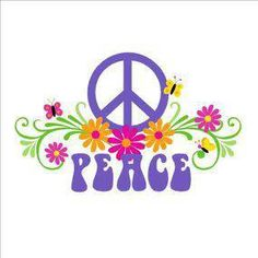 ☮ purple & flowers >> peace throughout the world