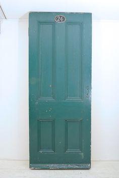 Pine Wood 【英国】イギリス【パイン材アンティークドア】グリーン(46) インテリア 雑貨 家具 Antique ¥48000yen 〆10月20日