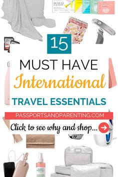 Have you wanted to plan an international trip but not sure what to pack? Here's a list of the 15 best international travel essentials you need. Packing Tips, Travel Packing, Best Travel Gadgets, Travel Hacks, Travel Set, Solo Travel, Travel Style, Travel Essentials, Travel Necessities