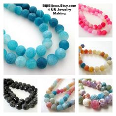"""https://www.etsy.com/listing/291471725/blue-round-beads-dragon-frosted-matte?ga_search_query=crackle+round+agate+beads&ref=shop_items_search_1 #Blue Round #Beads - Dragon #Frosted Matte #Agate - Crackle Vein Beads - Weathering Round Agate Beads - 10mm - 16"""" Strand - DIY Jewelry Making"""