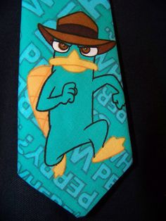 perry the platypus adult tie perfect for pictures and by playpatch