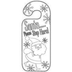 Blank door hanger template for your design, print and