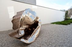 Marc Quinn creates first outsize, realistic shell, for solo exhibition at Galerie Thaddaeus Ropac Salzburg. Marc Quinn, Brave New World, Salzburg, Sea Shells, Riding Helmets, Bronze, Exterior, Architecture, Statues