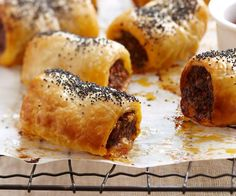 Your guests will be reaching for more with this gourmet version of classic sausage rolls. Crunchy, golden pastry compliments the tender lamb filling just begging to be dipped in tomato sauce and gobbled up.