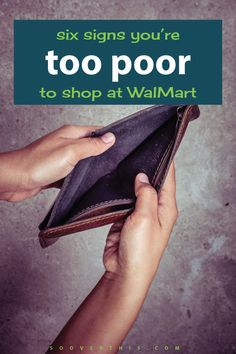 Whoa, too poor to shop at Walmart? She makes some really good points, it IS…