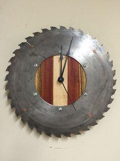 Saw Blade Clock