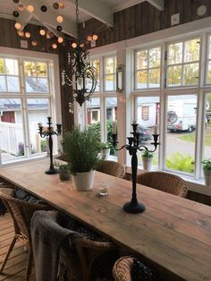 15 Must See Popular 3 Season Room Design Ideas, Plans & Cost Estimation - Home Decor Ideas Decor, Rustic Furniture, House Inspiration, Farmhouse Dining Room, House Styles, Sweet Home, Home Decor, House Interior, Dining Table