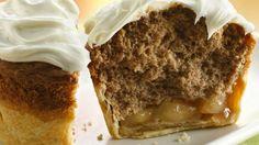 Apple Spice Jumbo Pie Cupcakes.