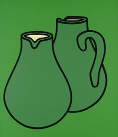 Patrick Caulfield - Two Jugs screenprint in the Tate Collection James Rosenquist, Michael Craig, Still Life Artists, Jasper Johns, Art Walk, Arte Pop, Flat Illustration, Everyday Objects, Mail Art