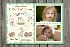 Easter Mini Session Template-V230 by Template Shop on @creativemarket Photography Brochure, Photography Pricing, Photography Marketing, Media Kit Template, Photo Folder, Print Release, Mini Sessions, Paint Markers, Photoshop Elements