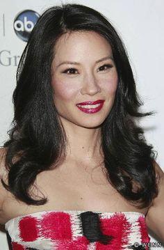 Nice red on Lucy Liu