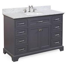 Aria 48 Bathroom Vanity (Carrara/Charcoal Gray) For Sale https://modernbathroomvanitiesreviews.info/aria-48-bathroom-vanity-carraracharcoal-gray-for-sale/