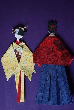 pareja Geicha y samurai