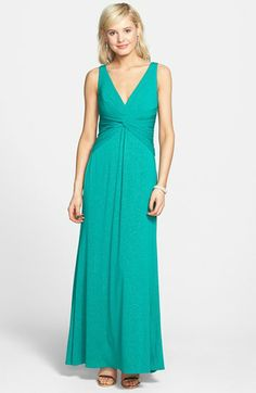 Laundry by Shelli Segal Front Knot Jersey Gown