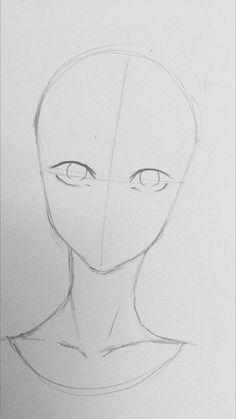 Manga Drawing Tips Anime Drawings Sketches, Pencil Art Drawings, Anime Sketch, Manga Drawing, Easy Drawings, Drawing Tips, People Drawings, Drawing Techniques Pencil, Drawing Art