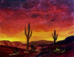 Old West Desert Cactus: Stage I