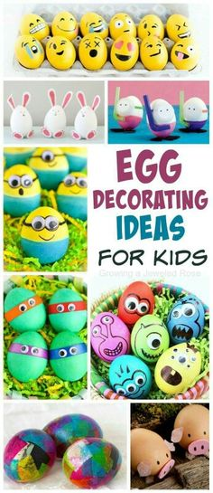 Egg Decorating Ideas 30 AWESOME ways to dye & decorate Easter eggs with kids- so many fun ideas! My kids are going to love these! Easter Art, Hoppy Easter, Easter Crafts, Easter Bunny, Easter Decor, Easter Eggs Kids, Easter Centerpiece, Bunny Crafts, Easter Table