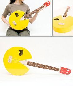 Awesome Pac-Man shaped ukulele.
