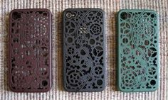 iPhone 4 case, designed by C Westbrook Designs in San Francisco and made by Shapeways - laser sintered 3D printed nylon
