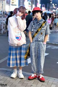 San To Nibun No Ichi Staffers in Harajuku w/ Cute Resale Fashion (Tokyo Fashion News) Korean Fashion Trends, Japanese Street Fashion, Tokyo Fashion, Harajuku Fashion, India Fashion, Quirky Fashion, Cute Fashion, Look Fashion, Fashion News