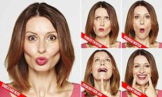Get the lips of a woman half your age with simple mouth exercises The real secret to a youthful pout, according to experts, is doing regular lip exercises. Celebrities like Jennifer Aniston amd Gwyneth Paltrow reportedly favour them to getting fillers. Facial Yoga Exercises, Yoga Facial, Neck Exercises, Jowl Exercises, Face Lift Exercises, Toning Exercises, Face Gym, Face Yoga, The Face
