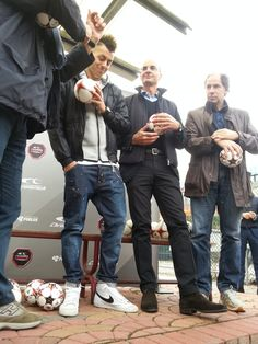 Daniele Massaro e Stephan El Shaarawy presso A.S. Masseroni Marchese Milan Scuola Calcio