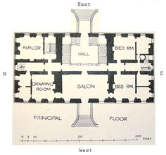 Ground floor plans of Coleshill House  The layout is not that far from the Georgian.