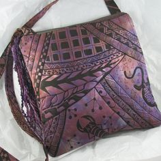 Shoulder Bag Quilted African Block Print by KathyKinsella on Etsy, $48.00