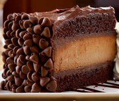 The Cheesecake Factory Hershey's Chocolate Bar Cheesecake - this is my go-to chocolate cake recipe with a cheesecake layer...yum!