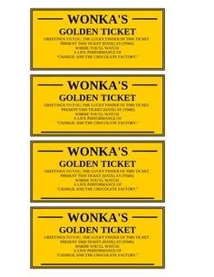 "Present your students with these Golden Tickets before a ""Charlie and the Chocolate Factory"" unit or field trip!  They are fully editable."